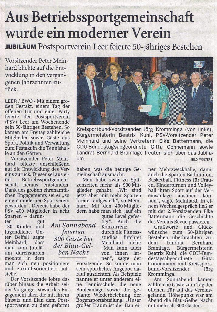 Ostfriesen-Zeitung 25.10.16 PSV