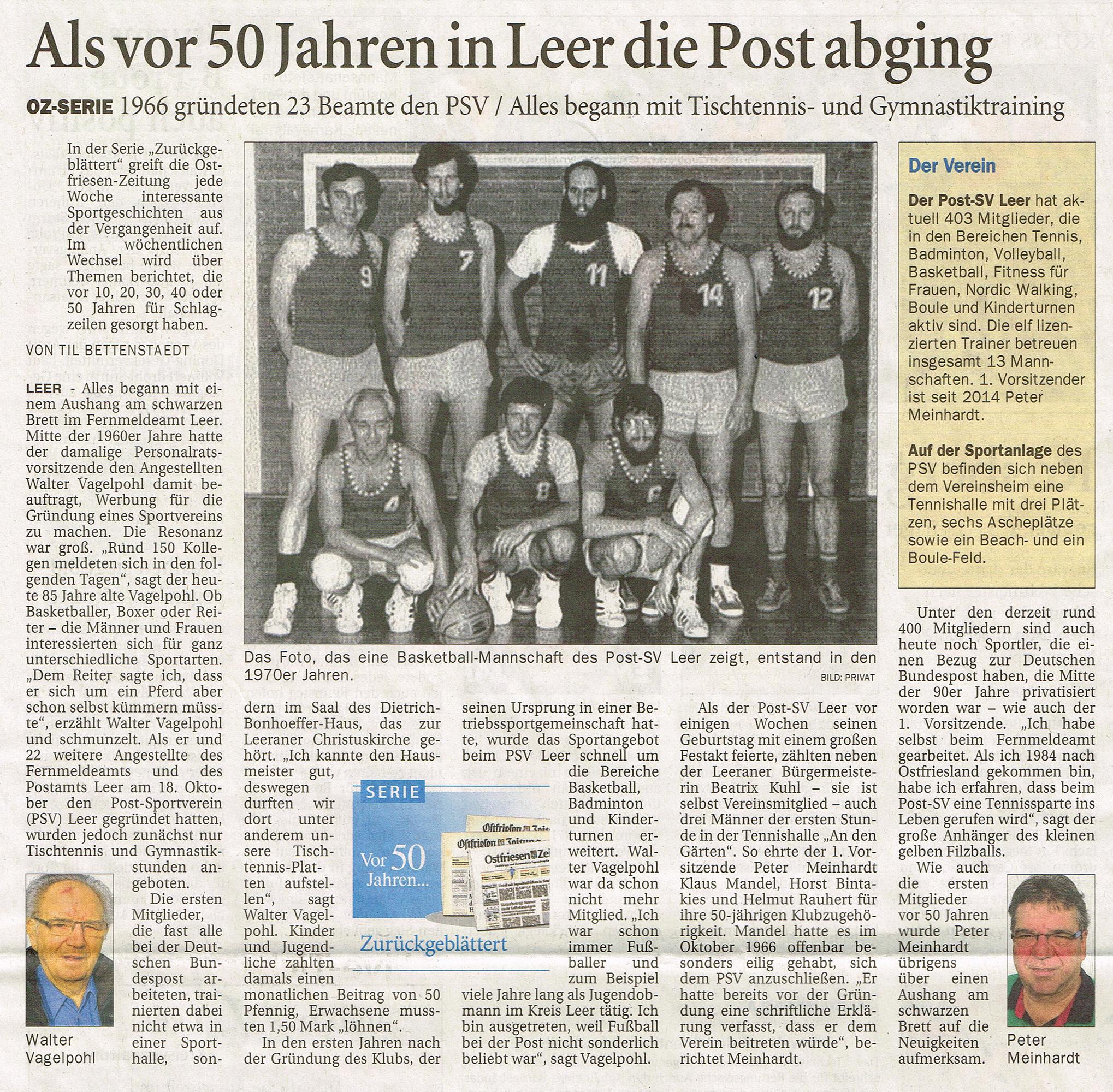Ostfriesen-Zeitung 12.11.16
