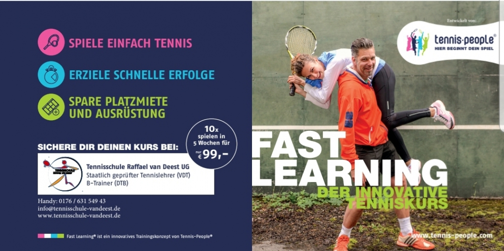 Tennisschule Raffael van Deest Tennisregion Dollar-Ems-Vechte TNB Tennis-People Fast Learning